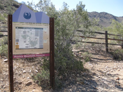 Phoenix Mountain Preserve sign