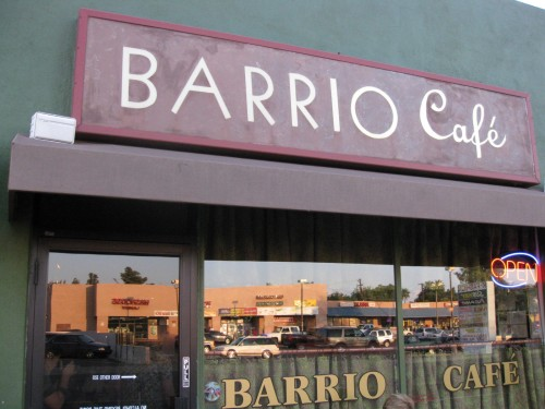 Barrio Cafe sign